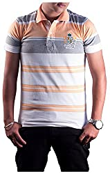 Protex Men's Cotton Polo (3205Ptsm, Peach, M)