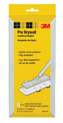 3M Dra-01 Pro Drywall Sanding Adapter, 5-Inches X 11-Inches front-356198