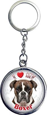 iLeesh i Love My Boxer Key Chain
