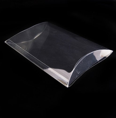 PVC Invitation clear boxes for party favors, weddings, packaging - Pillow Shape 5.5