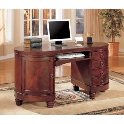 Buy Low Price Comfortable Computer Desk in Deep Brown Cherry – Coaster (B00409GE9S)