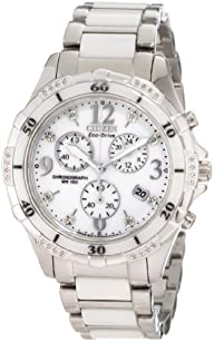 Citizen Women's FB1230-50A Stainless Steel Diamond-Accented Eco-Drive Watch