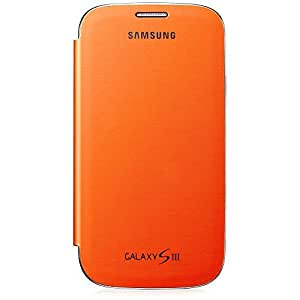 Samsung Original schützende Display-Klappe / Flip-Cover EFC-1G6FOEC (kompatibel mit Samsung Galaxy S3 I9300) orange