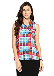 Raindrops Women's Shirt(1182B002GXL-Blue-XL)