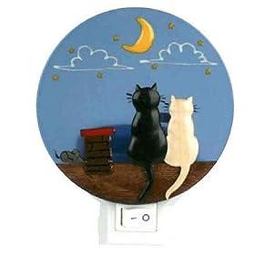 Dam - Veilleuse animaux - Deux chats sur un toit