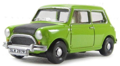 1:76 Lime Green Oxford Diecast Classic Mini by MINI (Mr Bean Car compare prices)