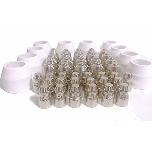 Warrior Free Shipping 50pcs P80 Consumable Tips Electrodes Shield Cups For Air Plasma Cutter Cutting Machine P-80