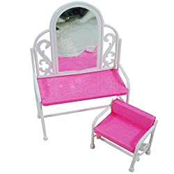 Imported 2pcs/Set Dressing Table and Chair for Barbie Dolls
