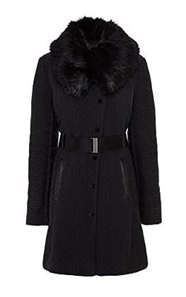 Zig zag quilted coat