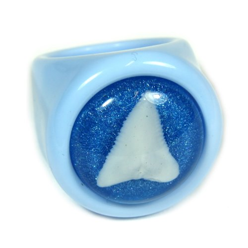 Shark Tooth Blue Ring Size 7 - 1