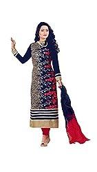 Khazanakart fashion blue designer dress materials for women and bollywood dress materials or partywear dresses