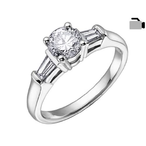 Diamond Engagement Ring 1/3 Carat (ctw) in 18K White Gold