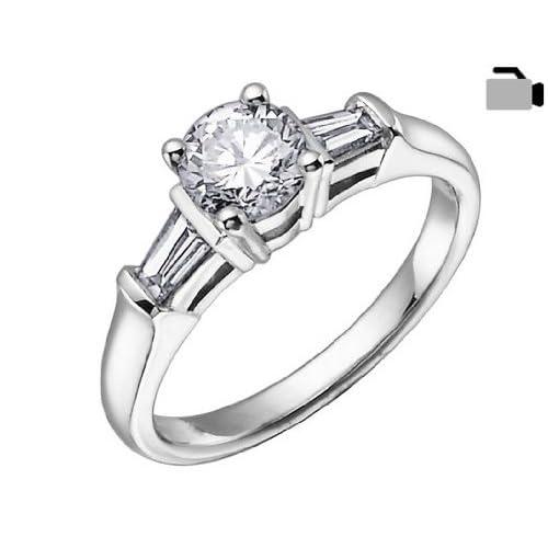 Diamond Engagement Ring 1/3 Carat (ctw) in 18K White Gold