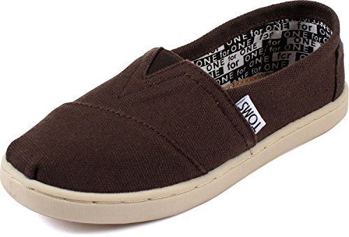 Toddler TOMS 'Classic - Youth' Slip-On Chocolate 1 M