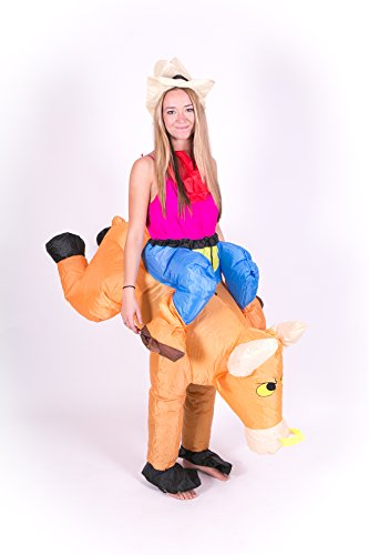 Inflatable Bull Rider Adult Fancy Dress Costume