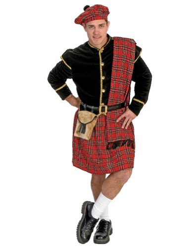 Scottish Clansman Adult Costume Lg Adult Mens Costume - Funny Fashions
