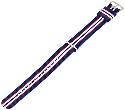 Daniel Wellington Belfast Silver Men'S Multicolour Nylon Buckle Watch Strap With Pin Of 20Cm 0413Dw