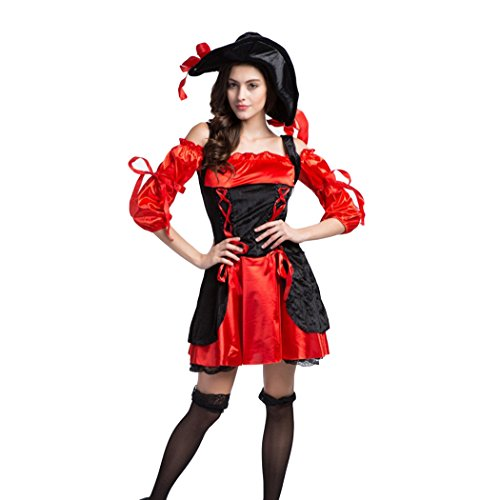 Ladies Sexy Captains Treasure Caribbean Pirate Halloween Fancy Dress Costume