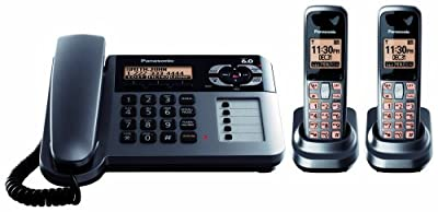 Panasonic KX-TG1062 Expandable Digital Corded-Cordless answering system with 2 handsets