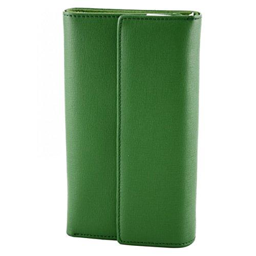 Portafoglio Donna In Pelle Saffiano Colore Verde - Pelletteria Toscana Made In Italy - Accessori