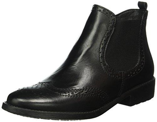 tamaris damen 25493 chelsea boots schwarz black leather. Black Bedroom Furniture Sets. Home Design Ideas
