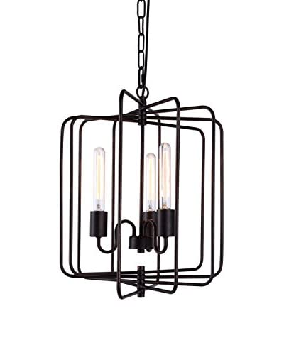 Urban Lights Lewis 3-Light Pendant Lamp, Dark Bronze