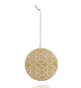 Ceramic Print Disk Christmas Tree Decoration