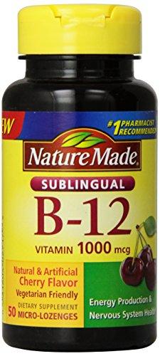 Nature Made Vitamin B-12 1000 Mcg Sublingual, 50 Count