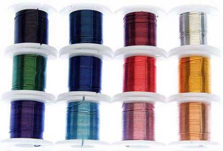CRAFT WIRE, 12 COLORS INDIVIDUAL 3 YARD SPOOLS