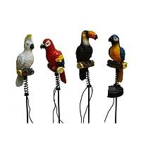 4 Pack Solar Lighted Jungle Birds Stake Lights -- Landscape Ornament Product SKU: SO10238