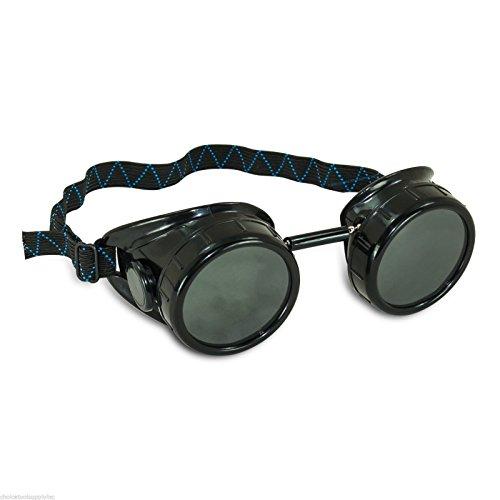 [Black Steampunk Welding Cup Goggles - 50mm Eye Cup] (Punk Costume Nz)