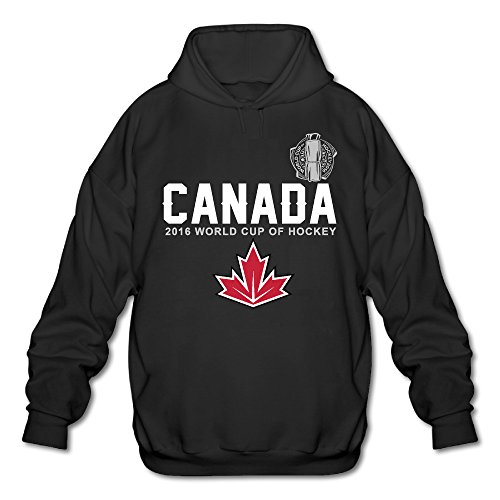 ALIMN Men's Canada Hockey 2016 World Cup Of Hockey Pride Hoodie Black