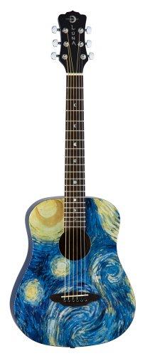 Luna SAFSTR Safari Starry Night 3/4 Acoustic Guitar