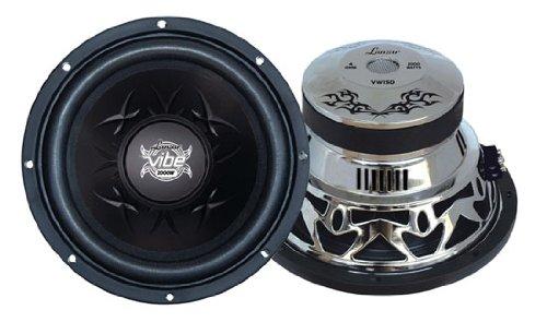 Lanzar Vw15D Vibe 15-Inch 2000 Watt Dual 4 Ohm Chrome Subwoofer