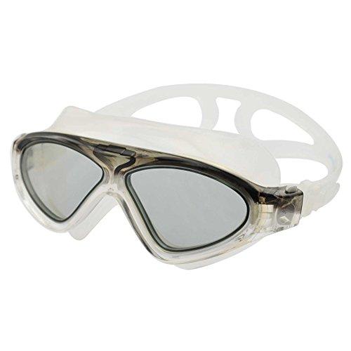 »Swordfish« Jugend-Kinder-Schwimmbrille (ideal auch für Damen) / 100% UV-Schutz + Antibeschlag + 180° View. Starkes Silikonband + stabile Box. TOP-MARKEN-QUALITÄT! AF-9700 schwarz