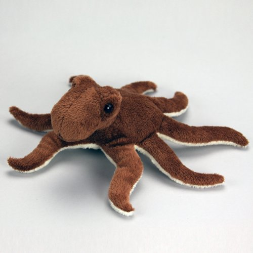 "Purr-Fection Curly Junior Octopus 8"" Plush"
