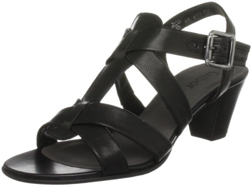 Gabor Daffodil Leather Classic Dress Sandals Black Leather 6.5