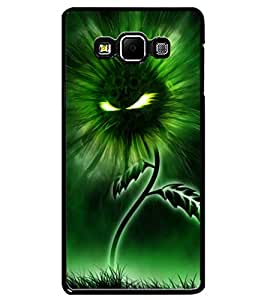 ColourCraft Flaming Eyes Flower Design Back Case Cover for SAMSUNG GALAXY A7