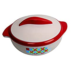 Cello Sizzler Polypropene Casserole, 2 Litres, Red/White