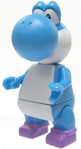 Super Mario Wii K'NEX LOOSE Mini Figure Blue Yoshi - 1