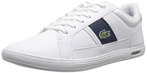 Lacoste Men's Europa Lcr3 Spm Fashion Sneaker Fashion Sneaker, White/dark Blue, 10.5 M US
