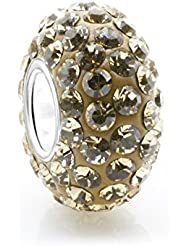 Simulated Citrine Yellow Crystal November Birthstone With 925 Sterling Silver Core Bead Fits Pandora Charm Bracelet