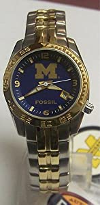 Fossil Michigan Wolverines Womens Sport Logo Watch Li3005