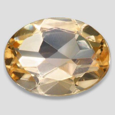 1.20carat Beautiful Orange Citrine 8 X 6 mm Oval Shape SI Loose Gemstone Amazing