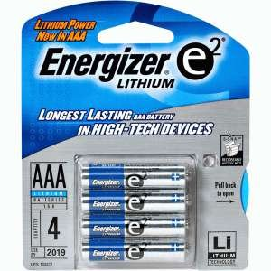 Energizer Lithium AAA 1.5V High Energy Lithium E2 Battery. 2 X Card 4AAA