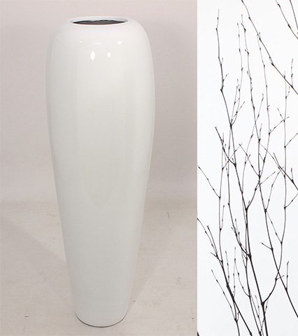 Greenfloralcrafts 36 Bamboo Tapered Floor Vase With Branches