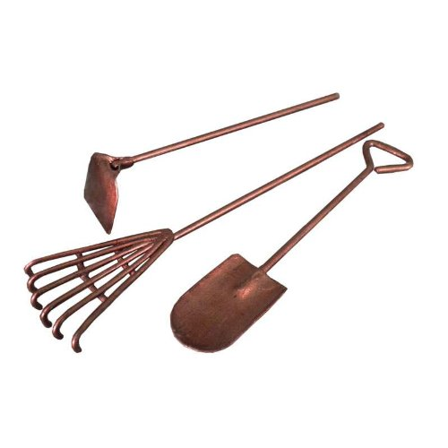 Fiddlehead Fairy Village -Mini Garden Tools 3 Pc Set, (Rake, Hoe & Shovel) - 1