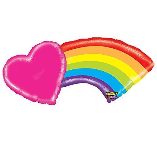 Rainbow happy birthday balloon decoration kit arts for Balloon decoration kit