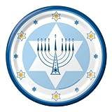 Hanukkah Lights Paper Plates