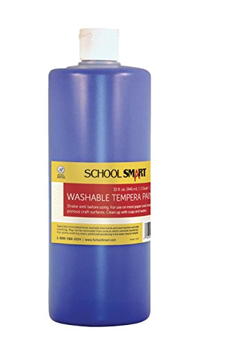 School Smart Washable Tempera Paint - Quart - Blue - 1